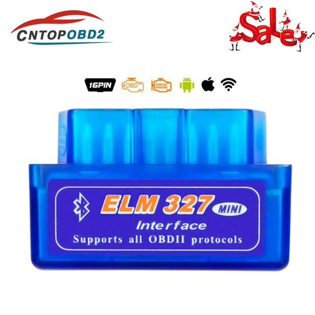 Mini OBD ELM327 Auto Scanner V2.1 ELM 327 Bluetooth OBD2 V1.5 Diagnostic Tool elm 327 1.5 OBDll Code Reader For Android IOS
