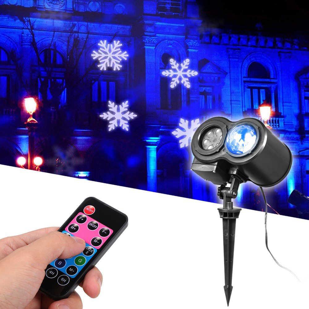 7W 12 Muster RGBW LEDs Projektor Bühne Licht AC 110-240V Wasser Winken Moving Weihnachten Licht mit fernbedienung