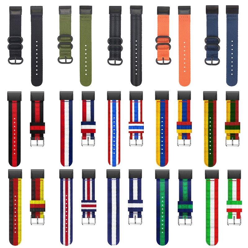 Für Garmin Fenix 6S 6 6X Pro 5S 5 5X Plus /3 HR Einfach fit Woven nylon armband Quick Release 20 22 26mm bunte handgelenk gurt