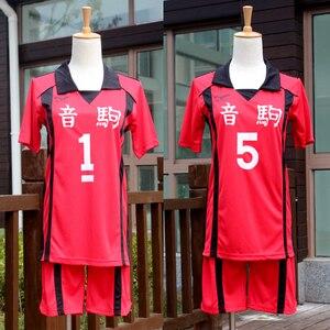 Аниме Haikyuu Cosplay Костюм Nekoma волейбольная команда Команды Kenma Kozume наряд Kuroo Tetsurou Спортивная одежда трикотажные изделия Униформа
