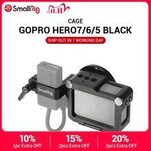 كاميرا صغيرة الحركة قفص تسجيل الدخول ل GoPro بطل 7 / 6 / 5 الأسود ل ميكروفون ضوء فلاش لتقوم بها بنفسك خيارات الألومنيوم حالة CVG2320