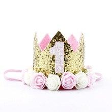Шапки для дня рождения на 2 года; шапка для первого дня рождения; корона принцессы на 1, 2 года; украшение для дня рождения