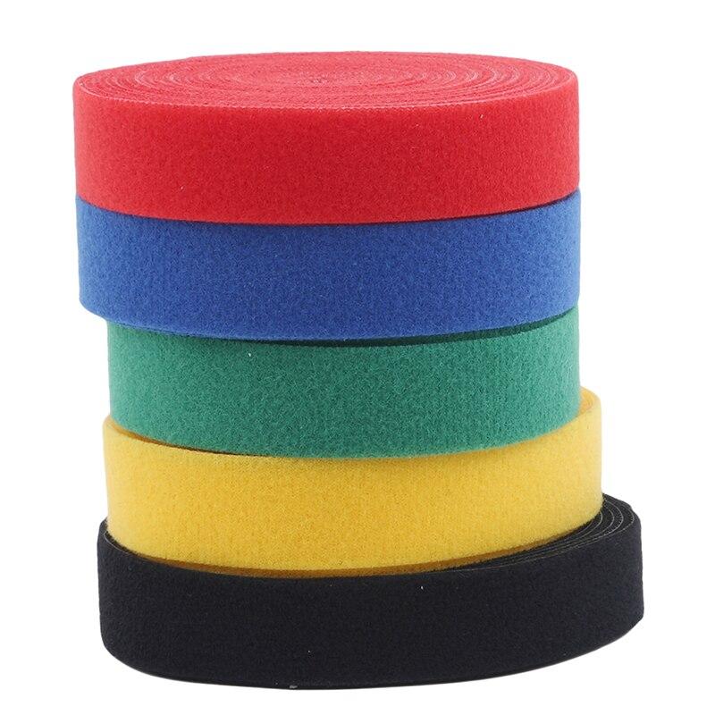 1 рулон 2 см * 5 м Цвет волшебный клей самоклеящаяся лента ремешок обруч с соединяющей петлёй, липучками застежка лента с защитой от царапин ру...