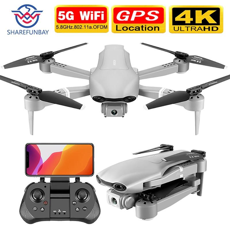 SHAREFUNBAY F3 Drone Gps 4K 5G WiFi Live Video FPV Quadrotor Flight 25 Minutes Rc Distance 500m Drone HD Wide-angle Dual Camera