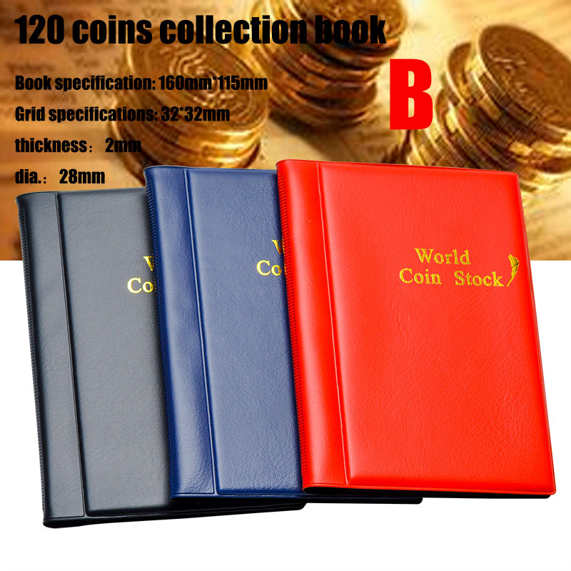 fpnhgf Albums 250 Pieces Coins Storage Book Commemorative Coin Collection Album Holders Collection Volume Folder Hold Multi-Color Empty Coin-2