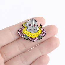 Personality Superhero Movie Animated Films Iron Giant Pins You Are Who You Choose To Be Positive Energy Words Male Brooches