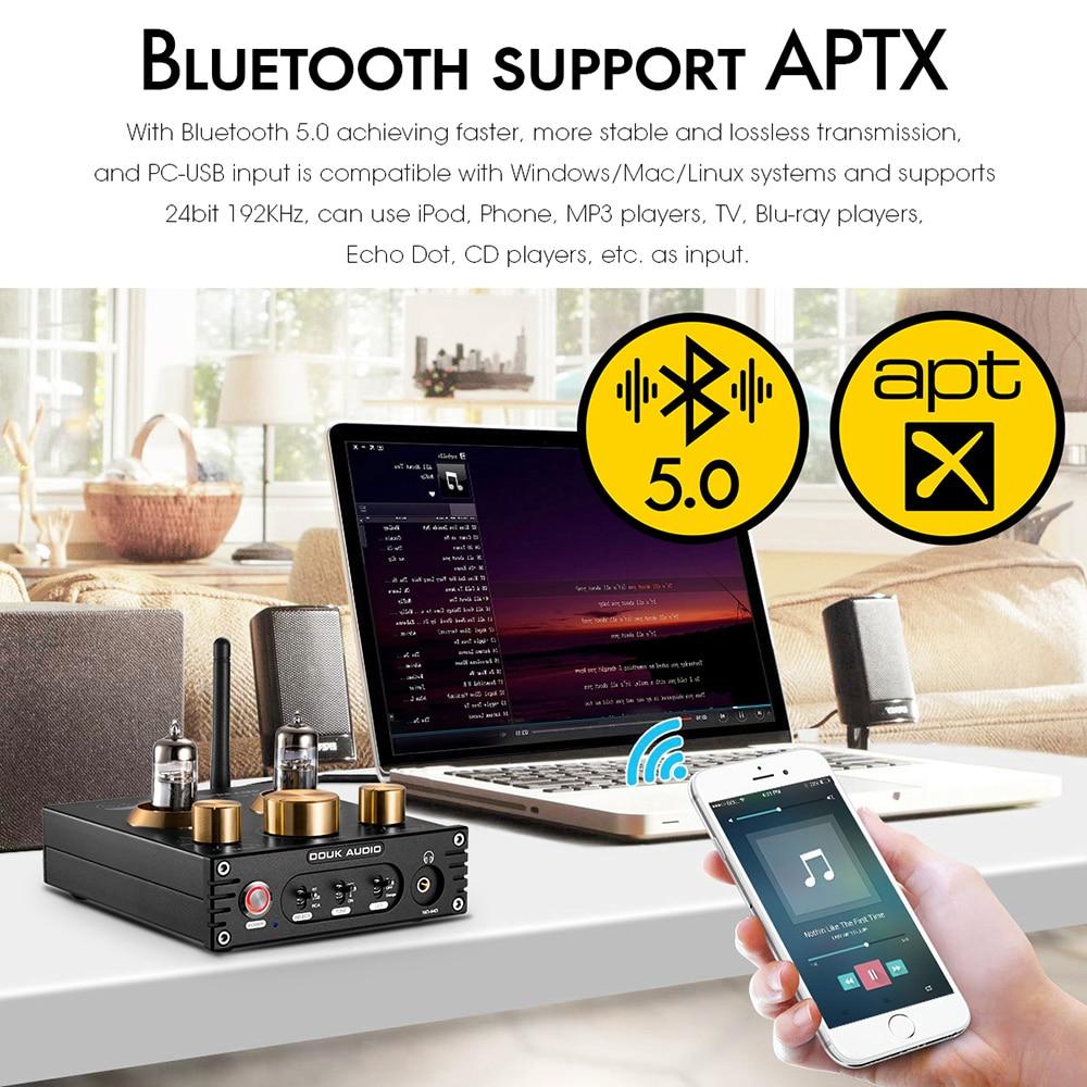 Nobsound HiFi Bluetooth 5.0 6J5 Valve Tube Preamp Bass Preamplifier Stereo Audio Headphone Amplifier USB DAC APTX - 5