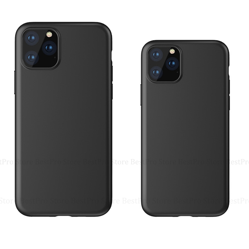 "Iphone 11 Pro Case | Silicone Case For IPhone 11 Pro 2019 11 Pro Max Black Phone Case Cover For IPhone XR XS MAX 11 Pro Max 11 6.5 6.1 5.8"" 2019"