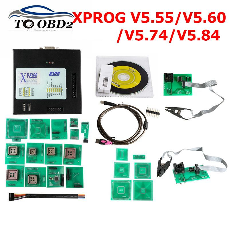 XPROG 5.84 V5.55 V5.60 V5.74 V5.84 Black Metal Box Better XPROG M V5.84 ECU Programming Interface Xprog-M V5.74 ATMEGA64A