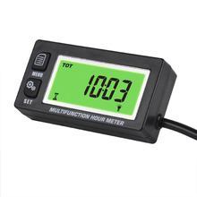 مقياس سرعة الدوران الرقمي للدراجات النارية ATV مقياس درجة الحرارة الاستقرائي مقياس الحرارة الخلفية مقياس الحرارة Tacho للقوارب الثلجية