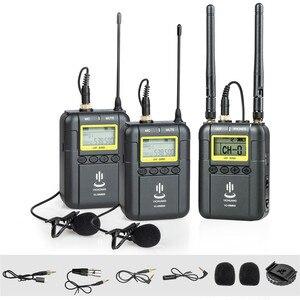 YICHUANG 100 м UHF Беспроводной Lavalier микрофон передатчик + приемник 50 каналов для новостей YouTube Vlog смартфон iphone 6/8