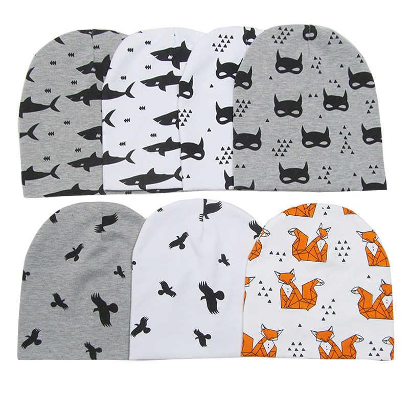 ผ้าฝ้ายหมวกเด็กหมวกการ์ตูนพิมพ์หมวกเด็กแรกเกิดเด็กวัยหัดเดินเด็กวัยหัดเดินทารกหมวกสำหรับสาวเด็ก Photo Props หมวกเด็ก