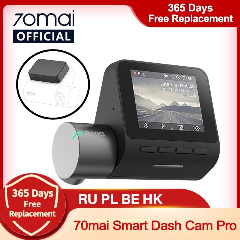 70mai Dash Cam Pro 1944P скоростью и GPS Cam голос Управление 70 Mai Видеорегистраторы для автомобилей Pro для парковочной системы Ночное видение Wi-Fi 70mai плюс