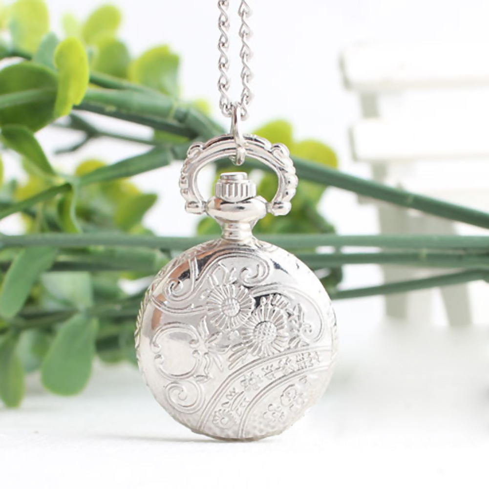 Retro Small Size Spider Webs Pocket Watch/Watch Necklace Fashion Jewelry Pendant Watch Necklace UND Sale
