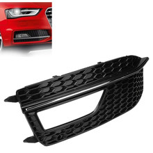 1Pcs Car Side Front Bumper Fog Light Grill Grills Grille Cover Replacements For-Audi A4 B8 S4 S-Line 2012-2015(China)