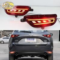 2Pcs For Mazda CX 5 CX5 2017 2018 2019 LED Rear Reflector Tail Fog Lamp Rear Bumper Light Brake Light Flashing Turn Signal Lamp
