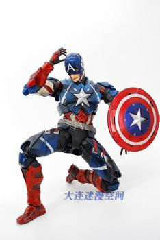2016 Action Figure Captain America Anime Play Arts PVC 27cm Civil War Super Hero Marvel Movable Toys gift Collectible Model