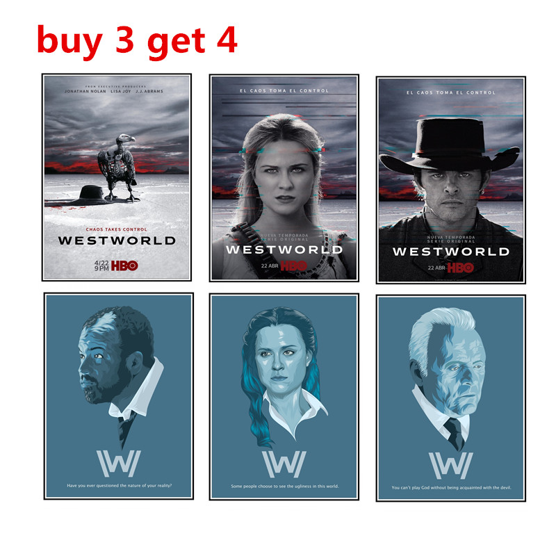 westworld season 2 poster living room decoration with white posters and wallpaper buy 3 get 4