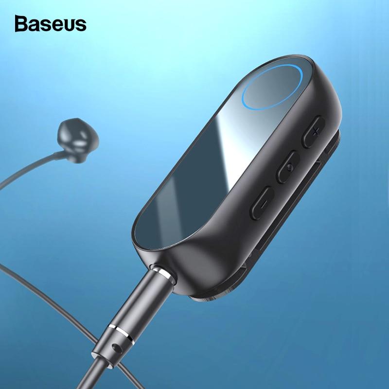 Baseus Bluetooth 5.0 Receiver For 3.5mm Jack Earphone Headphone Wireless Adapter 3.5 Jack Bluetooth Aux Audio Music Transmitter