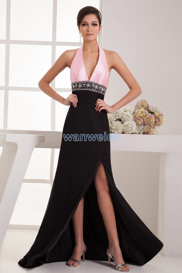 Free Shipping 2018 New Design Fashion Real Picture Sexy Halter Bride Bridal Beading Long Custom Mother Of The Bride Dress
