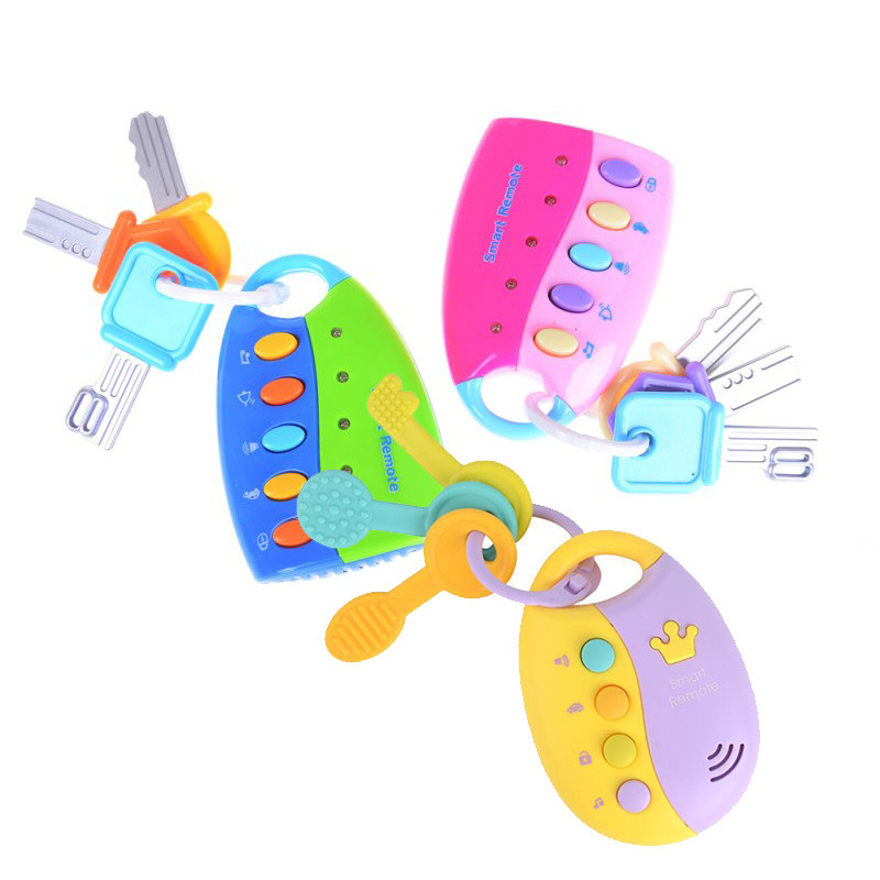 Baby Toy Musical Car Key Vocal Smart Remote Car Voices Pretend Play Educational Toys For Children Baby Music Toys 1