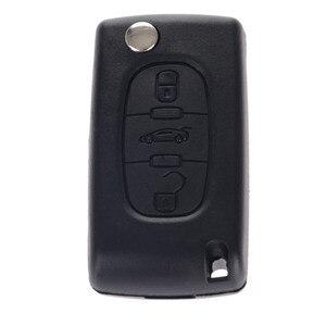 Image 4 - 3 botones Auto Flip plegable mando a distancia de entrada llavero cubierta hoja en blanco para Citroen C4 Picasso C5 C6 reemplazo de la carcasa de la llave del coche