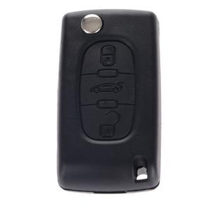 Image 4 - 3 tasten Auto Flip Folding Remote Eintrag Key Fob Fall Abdeckung Blank Klinge Für Citroen C4 Picasso C5 C6 Ersatz auto Schlüssel Shell