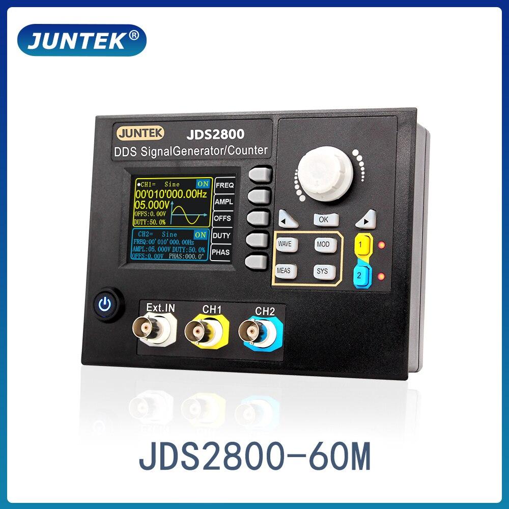 JUNTEK JDS2800-60M 60MHz DDS генератор сигналов с цифровым управлением Двухканальный измеритель частоты произвольный генератор сигналов