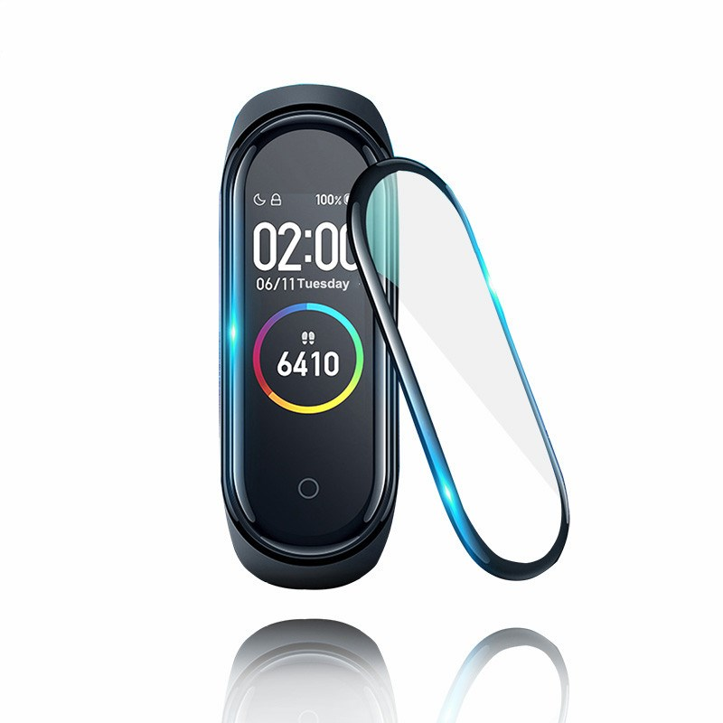 3D Protective Glass For Xiaomi Mi Band 4 Film On Mi Band4 Smart Watchband 4 Full Cover Soft Screen Protector Miband4 Glass Film