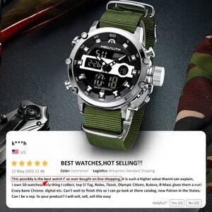 Image 2 - MEGALITH Sport Casual zegarki mężczyźni Luminous wodoodporne mężczyźni Top marka luksusowe data LED analogowy zegarek kwarcowy zegar Relogio Masculino