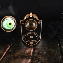 Halloween Doorbell Horrible One-Eye Door Decor Horror Props Toys Sound Scary Rotating Eyes Guests Welcome Jokes