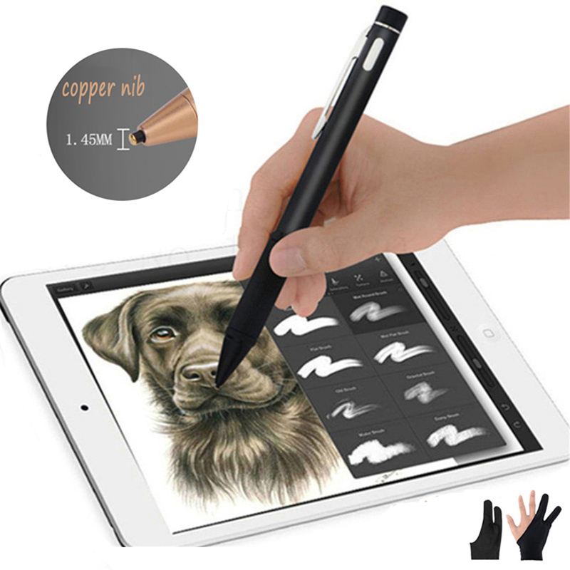Precision Active Stylus Pen Capacitive Screen Tablet Touch Pen Draw Write For Apple IPad For IPhone For Android Free Gift Golves