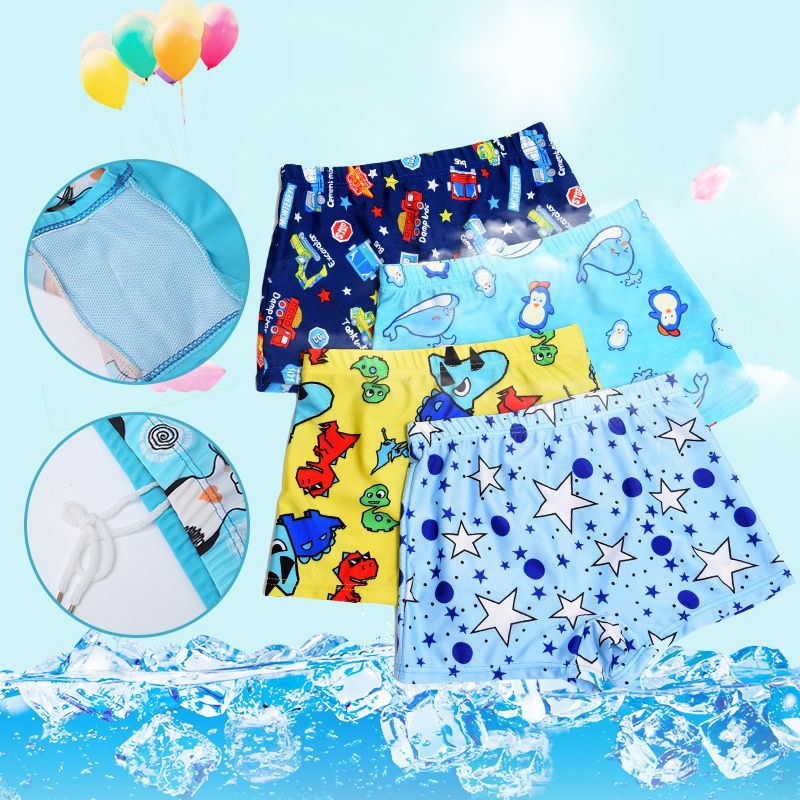 CHILDREN'S Swimming Trunks Summer BOY'S Swimming Trunks Baby Cute Cartoon Boxers Children Beach Swimming Trunks