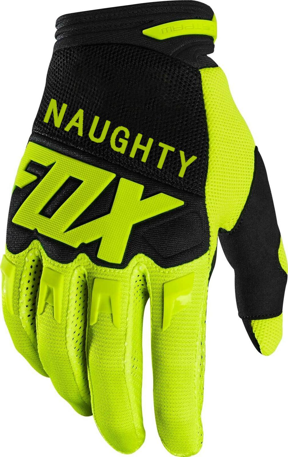 NAUGHTY FOX Fluo Black  Glove Motorbike Scooter Locomotive Downhill Bike Off-road Mens Gloves