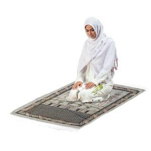Image 3 - 110x70cm Islamic Prayer Mat Muslim Prayer Rug Turkish Muslim Salat Namaz Islam Floor Carpet Mat Blanket Arabian Type Home Decor