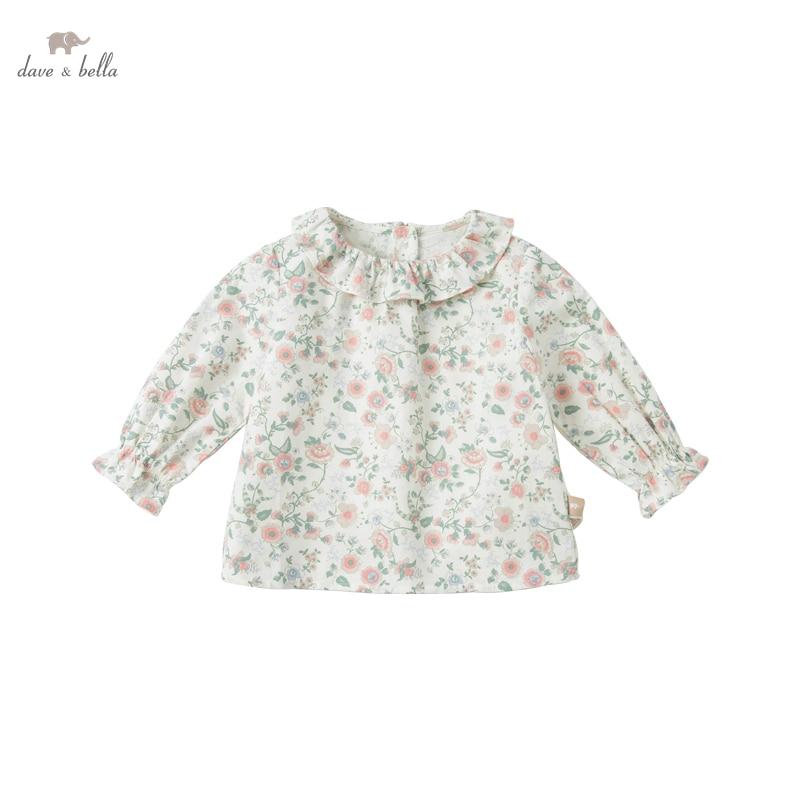 DB16154, демисезонная Модная рубашка с цветочным принтом для маленьких девочек, топы для малышей, детская одежда высокого качества|Блузки и рубашки| | АлиЭкспресс