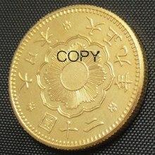JP(19) Япония 20 иена позолоченный азиатские тайсе 9 лет монета