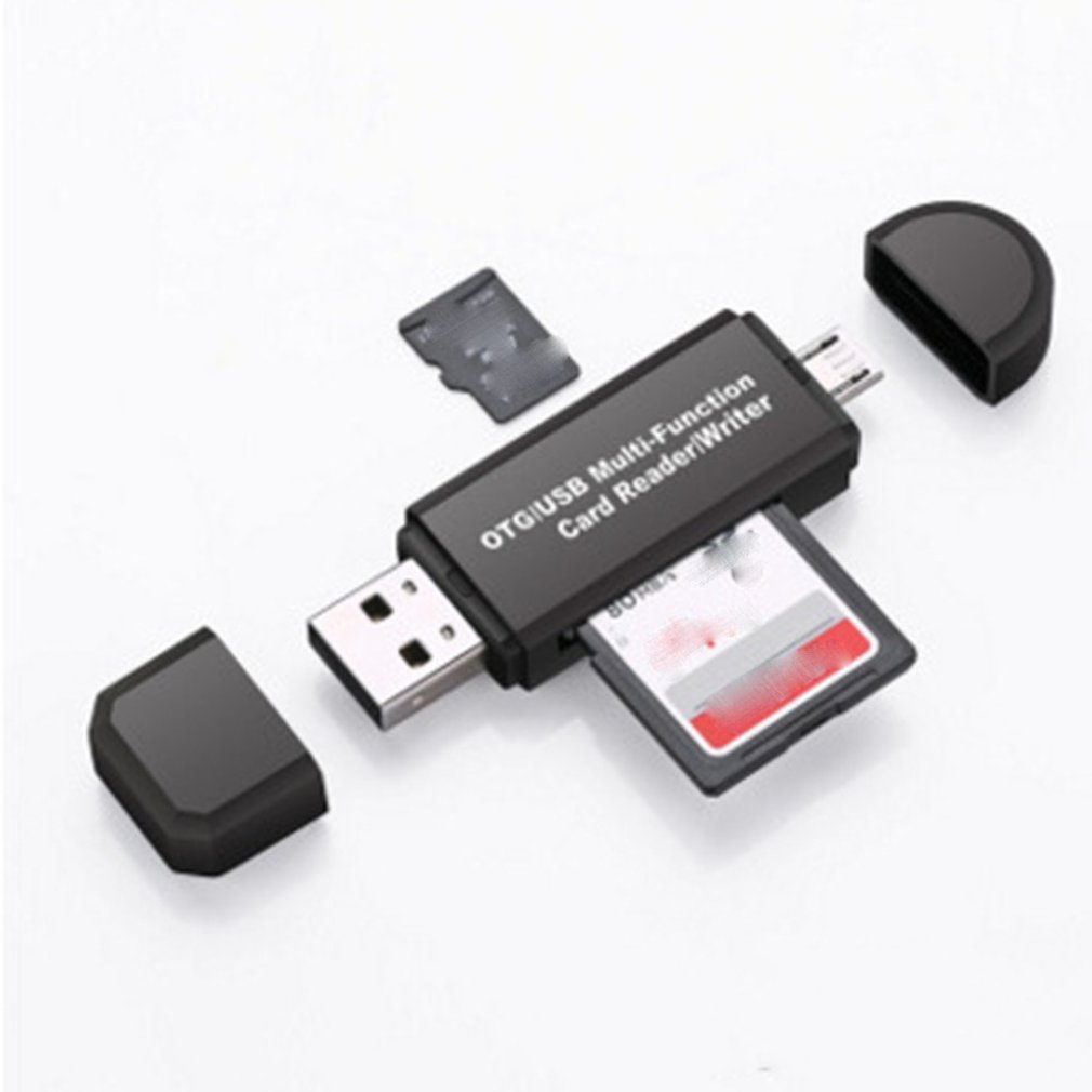 3 In 1 USB2.0 Computer Card Reader Multi-Desk Card Reader Multi-Function Otg High-Speed Tf/Security Digital For Android Computer