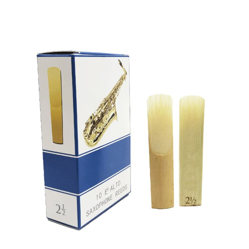 10pcs/set Alto/Soprano/Tenor Saxophone Reeds Strength 2.5 Bb Clarinet Reed M89D