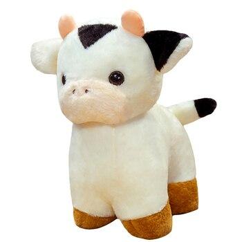 new 25 35 50cm kawaii sitting milk cow plush toys lifelike stuffed animal doll cute cattle toys for children kids christmas gift New Hot 30/40/50cm Lovely Fortune Cow Plush Toys Soft Stuffed Cute Animal Milk Cattle Plush Hug Doll for Kids Baby Birthday Gift