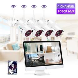Zoohi 15.6 Inch LCD 2MP NVR Bewakingscamera Outdoor Wifi IP Camera Kit Survellance Draadloze Camera Systeem beveiliging kits