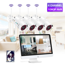 Zoohi 15.6 Inch LCD 2MP NVR Security Camera System Outdoor Wifi IP Kit Survellance Wireless Cameras security kits