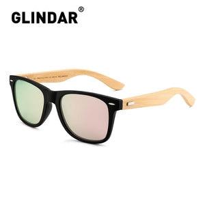 Image 5 - Çizgili çerçeve Retro ahşap polarize güneş gözlüğü marka tasarım erkekler kadınlar Retro güneş gözlüğü sürüş lentes de sol
