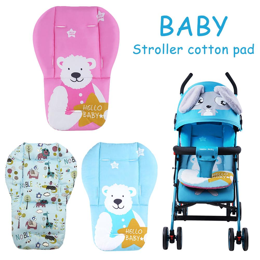 Thick Cotton Baby Stroller Accessories Seat Cushions Soft Cotton Dining Chair Car Stroller Pad Colchoneta Silla De Paseo