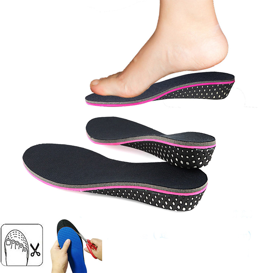 1 Pair Unisex Shoe Insole Air Cushion Heel insert Increase Height Lift 3.5inch