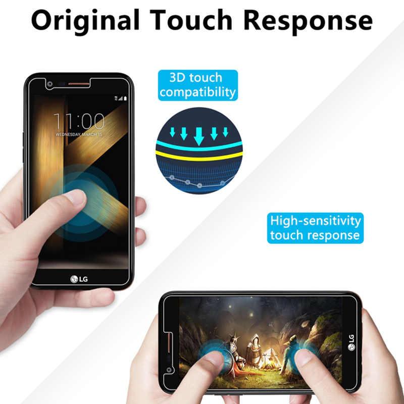 2 Pcs! Kaca Pelindung Anti Gores untuk LG Q8 Q7 Q6 Stylus 3 2 Plus 9H HD Toughed Layar Film untuk LG V40 V30 V20 V10 X Power
