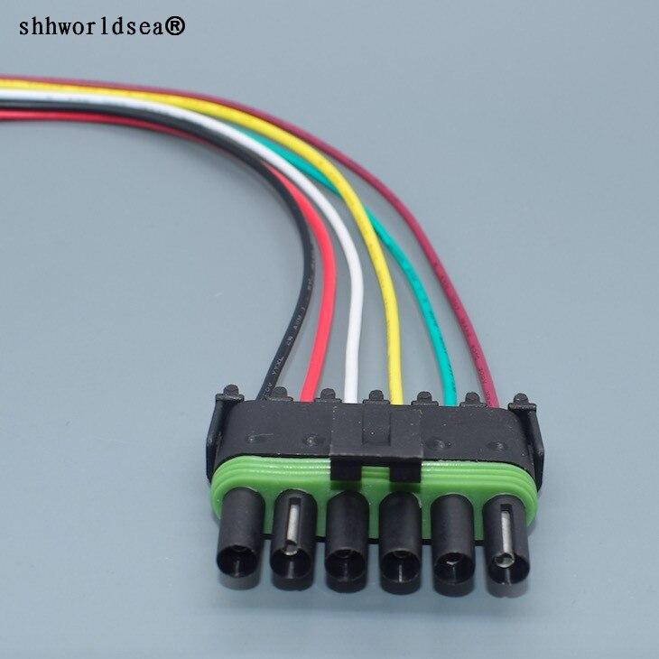 Shhworldsea connecteur de réparation de Valve | Connecteur de réparation de réservoir de carburant 6pin 2.5mm 6 broches, faisceau de câblage de prise femelle 12015799