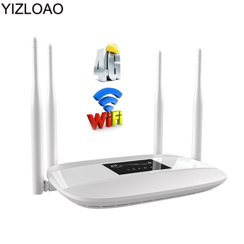 YIZLOAO 4G CPE LTE Wifi Router With Sim 150Mbps Mobile Hotspot Modem Wireless Broadband 3G 4G Portable Wi-Fi Router Gateway Ap