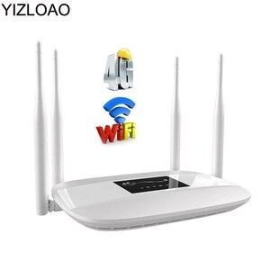 YIZLOAO 4G CPE Router Wi-Fi LTE z Sim 150 mb/s mobilny Modem Hotspot bezprzewodowy dostęp szerokopasmowy 3G 4G przenośny Router Wifi Gateway Ap