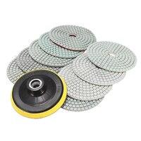 10 pièces 4 pouces pouces diamant tampons de polissage pour granit marbre béton pierre|Tampons de polissage| |  -